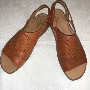 "b66245c1952a Clarks Shoes - NIB Clarks ""Sarla Cadence"" Leather Sandals SZ 7M"